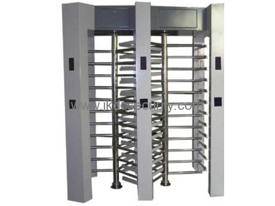 Stainless steel Double channel access control system full height turnstile
