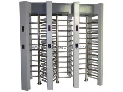 Stainless steel Triple channel access control system full height turnstile