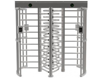 Stainless steel Double channel Full height turnstile with access control system JKDF-258