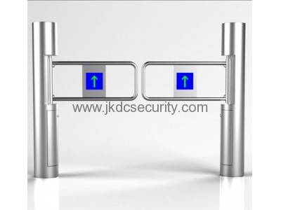 Pedestrian access control swing barrier gate JKDC-100C