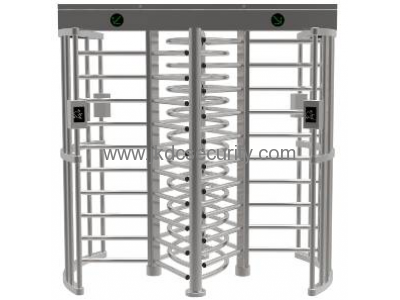 Stainless steel Double channel Full height turnstile with access control system JKDC-258