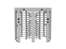 Stainless steel Double channel access control system full height turnstile JKDC-200B